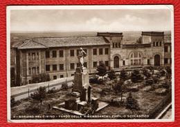 VITERBO - SORIANO NEL CIMINO - PARCO DELLA RIMEMBRANZA - EDIFICIO SCOLASTICO - CARTOLINA VIAGGIATA NEL 1937 - Viterbo