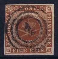 Denmark : Mi Nr 1 II C Kastanienbraun Obl./Gestempelt/used - Used Stamps