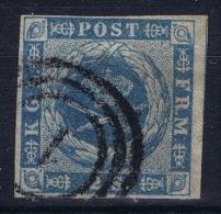 Denmark : Mi Nr 3 Obl./Gestempelt/used 1854 - Gebraucht