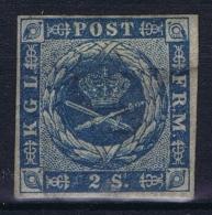 Denmark : Mi Nr 3 MH/* Flz/ Charniere  1854 Signed Lttle Gum Fold - 1851-63 (Frederik VII)