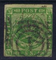 Denmark : Mi Nr 3 Obl./Gestempelt/used   1857 - Gebraucht