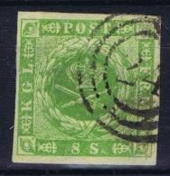 Denmark : Mi Nr 3 Obl./Gestempelt/used   1857  Signed/ Signé/signiert/ Approvato - Gebraucht