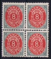 Denmark : Mi Nr 25 IIYBa Kopfstehende Ramen Perfo 12.75 4-block  Postfrisch/neuf Sans Charniere /MNH/** - Nuovi