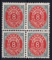 Denmark : Mi Nr 25 IIYBa Kopfstehende Ramen Perfo 12.75 4-block  Postfrisch/neuf Sans Charniere /MNH/** - 1864-04 (Christian IX)