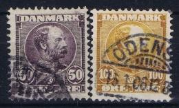 Denmark : Mi Nr 51 - 52 Obl./Gestempelt/used  1904 - 1864-04 (Christian IX)