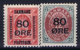 Denmark : Mi Nr 82 - 83 MH/* Flz/ Charniere  1915 Signed/ Signé/signiert/ Approvato - Ongebruikt