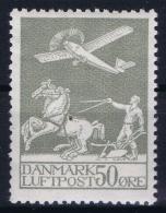 Denmark : Mi Nr 180 Fa 216 MH/* Flz/ Charniere 1929 - Airmail