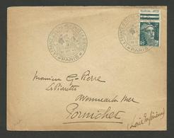 PARIS Octobre 1945 - La France D'outre Mer Dans La Guerre - Marcophilie (Lettres)