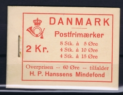 Denmark : Booklet Carnet  MH22 Postfrisch/neuf Sans Charniere /MNH/** 1937 Hansen Fund - Markenheftchen