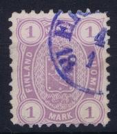 Finland : Mi Nr 19 Ay Obl./Gestempelt/used  1875 - Gebraucht