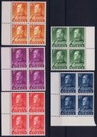 Norway : Mi Nr 428 - 432  Postfrisch/neuf Sans Charniere /MNH/** 1959 4- Blocks - Norwegen