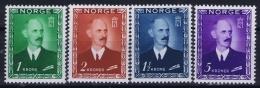 Norway : Mi Nr 315 - 318  Fa 352 - 355   Postfrisch/neuf Sans Charniere /MNH/** 1946 - Norwegen
