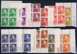 Norway : Mi Nr 418 - 427 + 450    Postfrisch/neuf Sans Charniere /MNH/** 1958 Blocks Part With Numbers - Norwegen