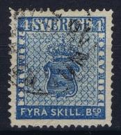 Sweden : Mi Nr 2 Obl./Gestempelt/used  1855 - Sweden
