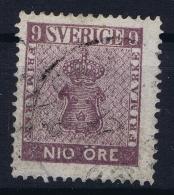 Sweden : Mi Nr 8a  Rotviolett Fa 8 Obl./Gestempelt/used  1858 L - Sweden