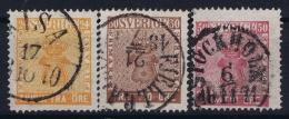 Sweden : Mi Nr 10 - 12 Obl./Gestempelt/used  1858 - Sweden