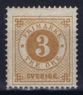 Sweden : Mi Nr 17b  Fa 28 MH/* Flz/ Charniere  1872  K13 Perfo - Schweden