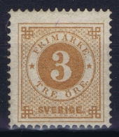 Sweden : Mi Nr 17b  Fa 28 MH/* Flz/ Charniere  1872  K13 Perfo - Ongebruikt