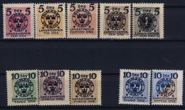 Sweden : Mi Nr 97  - 106 MH/* Flz/ Charniere   102  +106 Postfrisch/neuf Sans Charniere /MNH/** 1916 - Schweden