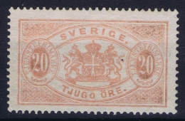 Sweden : Mi Nr 6   Fa TJ 18  MH/* Flz/ Charniere  Part Gum  Perfo 13 1874 - Officials