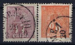 Sweden : Mi Nr 15a + 16b   Fa 15 + 16   Obl./Gestempelt/used  1866 - Sweden