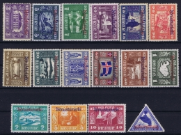 Iceland : Mi Nr  DM 44 - 59 Fa TJ 59 - 74 MH/* Flz/ Charniere 30A Thin, 10 Kr Righttop Fold - Dienstpost
