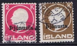 Iceland : Mi Nr  DM 41 + 42  Obl./Gestempelt/used - Dienstpost