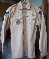 Vintage Dutch Scouts Shirt - 8 Patches - Pfadfinder-Bewegung