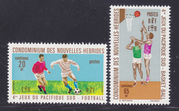 NOUVELLES-HEBRIDES N°  308 & 309 ** MNH Neufs Sans Charnière, TB (D7019) Sports, Jeux Du Pacifique Sud - Légende Française