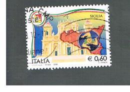 ITALIA REPUBBLICA  -   2008   REGIONI: SICILIA                         -   USATO  ° - 6. 1946-.. República
