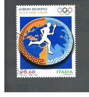 ITALIA REPUBBLICA  -   2008   GIOCHI OLIMPICI DI PECHINO                           -   USATO  ° - 6. 1946-.. Repubblica