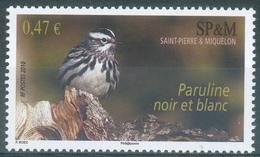 Saint Pierre And Miquelon, Bird, Black-and-white Warbler (Mniotilta Varia), 2010, MNH VF - Unused Stamps