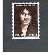 ITALIA REPUBBLICA  -   2008  ANNA MAGNANI                        -   USATO  ° - 6. 1946-.. Repubblica