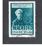 ITALIA REPUBBLICA  -   2008   E. DE AMICIS                   -   USATO  ° - 6. 1946-.. Repubblica