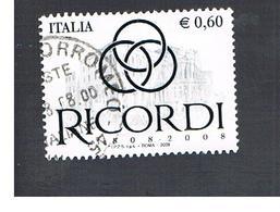 ITALIA REPUBBLICA  -   2008   RICORDI                 -   USATO  ° - 6. 1946-.. Repubblica