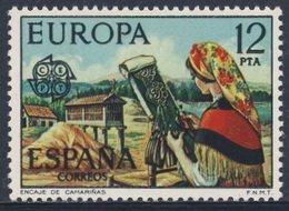 Spain Espana 1976 Mi 2210 YT 1962 Sc 1942 ** Camarinas Lace-making/ Klöpplerin Aus Camariñas / Kloskant - Textiel