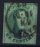 Belgium: OBP Nr 9 Obl./Gestempelt/used  1861 - 1858-1862 Medaglioni (9/12)