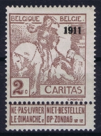 Belgium: OBP Nr 94 Very Light Hinged MH/* Flz/ Charniere - 1910-1911 Caritas