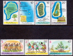 TUVALU 1978 SG #94-100 Compl.set Used Independence - Tuvalu