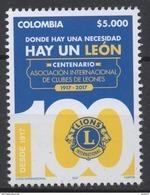 A036 -COLOMBIA / KOLUMBIEN - 2017  - MNH-  LIONS INTERNATIONAL 100 YEARS 1917-2017 - Kolumbien