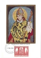 St.Stanislas Bishop Of Cracow  3.3. 1966 (2scans) - Cartes-Maximum (CM)