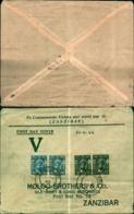 8814a)cartolina P Con 4 Valori Moloo Brothers E Co - Zanzibar (1963-1968)