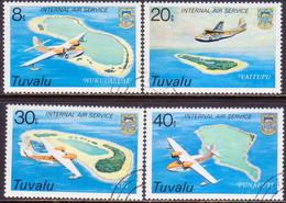 TUVALU 1979 SG #127-30 Compl.set Used Internal Air Service - Tuvalu