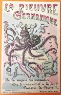 """CPA Guerre De 14 Edit. VARRY Paris, Illus. Signé G. BOURSSET """"La Pieuvre Germanique"""" ..On Les Coupera Tes Tentacules,... - Oorlog 1914-18"""