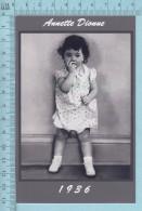 """Les Quintuplées Dionne # 63 -  Photo De """" Annette """" à L'age De 2 Ans En 1936,  Fillette, Reproduction - Portraits"""