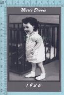 """Les Quintuplées Dionne # 60 -  Photo De """" Marie """" à L'age De 2 Ans En 1936,  Fillette, Reproduction - Portraits"""
