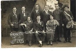 26 ANDANCETTE CARTE PHOTO CLASSE 1925 CONSEIL DE REVISION CPA 2 SCANS - France