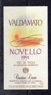 Lamezia Terme (CZ) - Cantine Lento - VALDAMATO  Novello 1991 - - Etichette