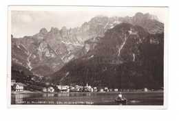 Italie Lago Di Alleghe Lac Col Civetta 1933 Cpa Animée Barque Rameur - Other Cities