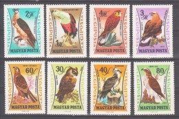 Hungary 1961 Ungarn Mi 1881-1888 65 Years Agricultural Museum: Birds Of Prey / Raubvögel **/MNH - Arends & Roofvogels
